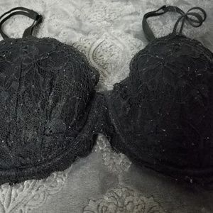 PINK Victoria's Secret Intimates & Sleepwear - VS PINK 36C Black lace date mermaid two strap bra